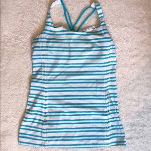 Lululemon striped tank top - worn once!